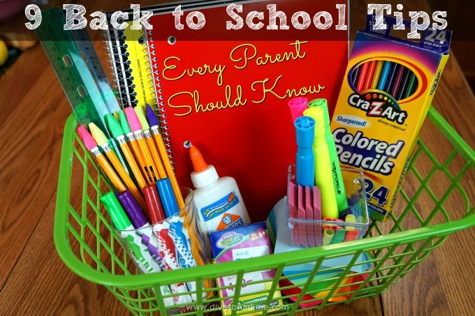 Back to School stressing you out? This will help! Follow these 9 tips and ease your way back to school.