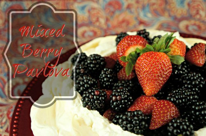 "How to make Pavlova, a ""secret weapon"" dessert made of melt-in-your-mouth meringue with whipped cream topped with ripe berries. No one will know it's totally cheap!"