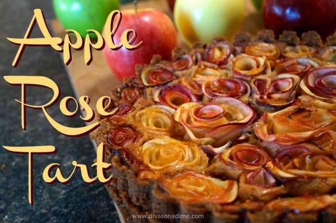 Apple Rose Tart pairs a crunchy, toasted pecan crust with rich apple butter cheesecake covered in roses made from sliced apples. Get your camera ready!