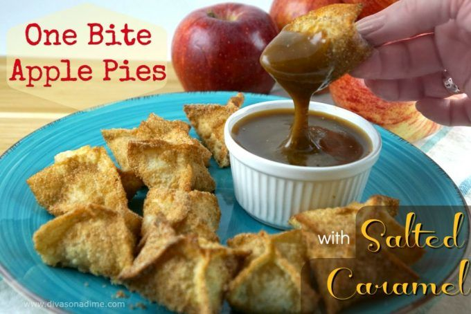 Little bites of Bliss! Homemade apple filling, crispy fried wonton crust and salted caramel sauce from scratch! Easy, delicious and cheap!