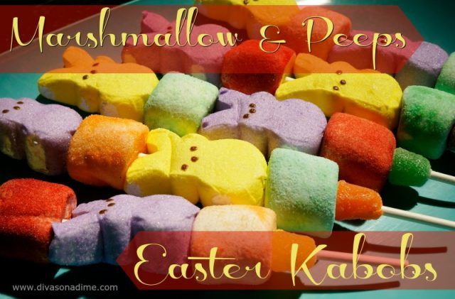 These adorable Easter candy kabobs are easy, fun and totally cheap!